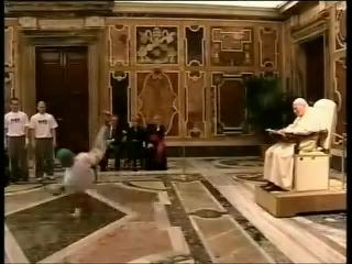 Breakdance für den Papst