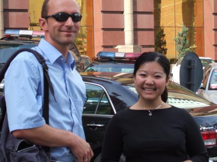 Prof. Dengel und Ying Li